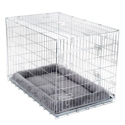 double door avec coussin cage de transport pour chien. Black Bedroom Furniture Sets. Home Design Ideas