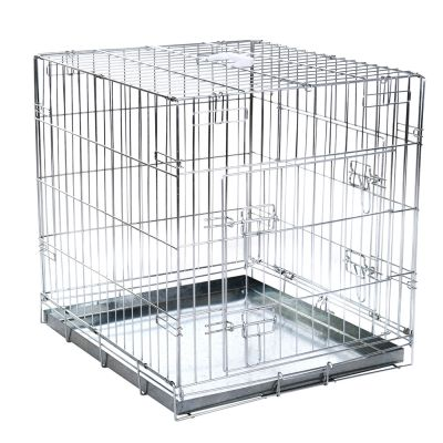 double door cage de transport pour chien zooplus. Black Bedroom Furniture Sets. Home Design Ideas