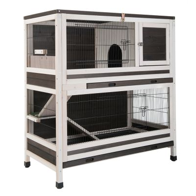 lounge cage pour lapin et cochon d 39 inde 2 niveaux. Black Bedroom Furniture Sets. Home Design Ideas
