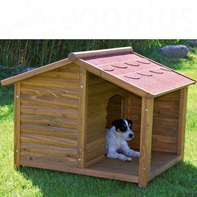 Caseta trixie natura con terraza para perros - Casetas para terraza ...