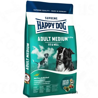 dog food happy dog supreme fit well adult medium at zooplus. Black Bedroom Furniture Sets. Home Design Ideas
