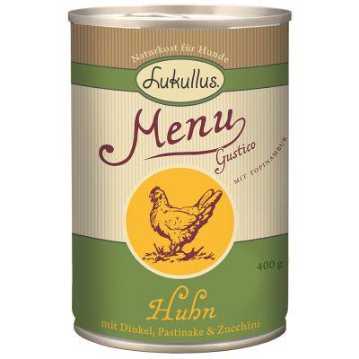 Lukullus Menu Gustico poulet, épeautre, panais, courgettes