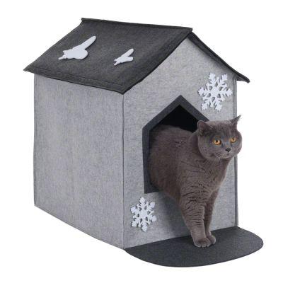 Xxl filzi 2 en 1 niche pour chat zooplus - Couverture pour petit chien ...