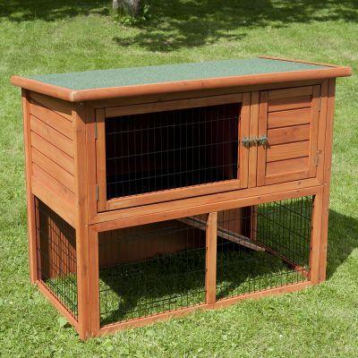 outback kaninchenstall kompakt mit freigehege g nstig bei zooplus. Black Bedroom Furniture Sets. Home Design Ideas