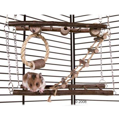 pont suspendu en bois naturel pour rongeur zooplus. Black Bedroom Furniture Sets. Home Design Ideas