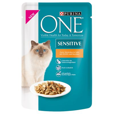 purina one sensitive free p p on orders 29 at zooplus. Black Bedroom Furniture Sets. Home Design Ideas
