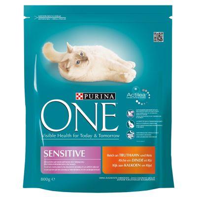 Purina One Sensitive Turkey Amp Rice Dry Cat Food Top
