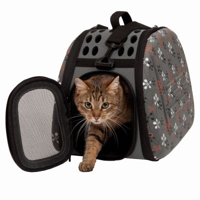 sac de transport pliable bandouli re pour chien et chat zooplus. Black Bedroom Furniture Sets. Home Design Ideas