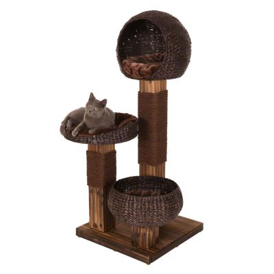 Scorched Wood Cat Tree Great Deals At Zooplus