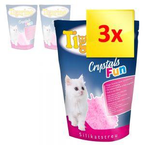 Sparpaket Tigerino Crystals Fun Rosa Katzenstreu Zu