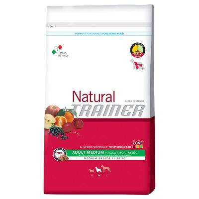 Trainer Natural Adult Medium Manzo, Riso e Ginseng